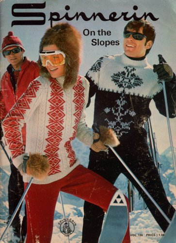 Spinnerin Knitting Patterns Ski Sweaters Fair Isle Cable Hat 1969