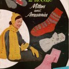 2 Needle Mittens Knitting Patterns Socks Automobile Skating Sets 1955