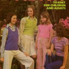 Leisure Arts 36 Fun Tops Knitting Patterns Child Adult Shrink Vest 1974