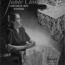 Crochet Tablecloth Patterns Lily Mills Luncheon Sets Runners Easy 1945 VTNS