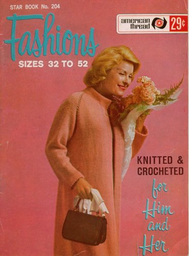 Knitting Crochet Patterns Fashions Him Her Size 32 to 52 Sweater Coat 1960s