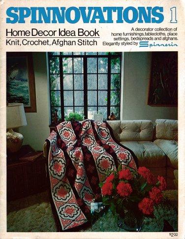Spinnovations Home Decor Afghans Knitting Crochet Patterns Vintage 1975