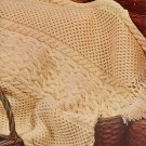 Afghans Knitting Crochet Patterns Aran Chevron Granny Coats Clark 1974 VTNS