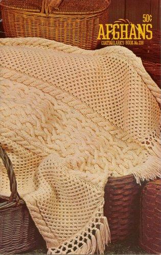 Afghans Knitting Crochet Patterns Aran Chevron Granny Coats Clark 1974 VTNS