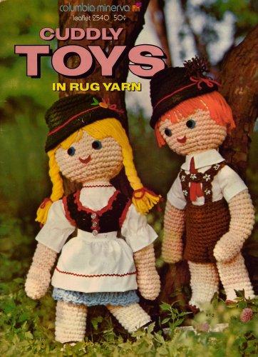Cuddly Toys Columbia Minerva Crochet Patterns Cuddly Toys Rug Yarn 1972 VTNS
