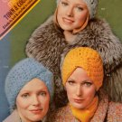 Columbia Minerva Knitting Crochet Patterns Hats Cloche Turban Brim 1973