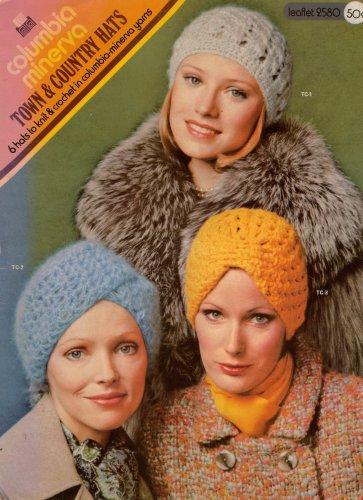 Columbia Minerva Knitting Crochet Patterns Hats Cloche Turban Brim 1973