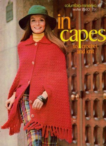 Vintage Knitting Crochet Patterns Columbia Minerva In Capes 5 Designs 1972 VTNS
