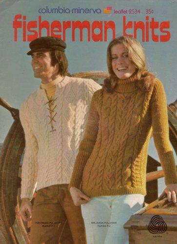 Columbia Minerva Fisherman Knits Knitting Patterns Women Men 4 Designs 1971 VTNS