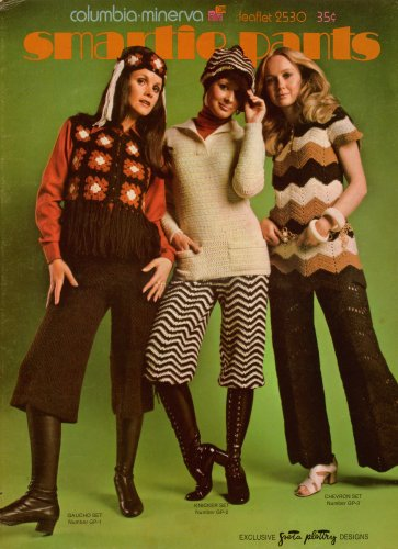 Columbia Minerva Crochet Patterns Gaucho Knicker Chevron Pants Sets 1971