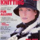 VOGUE KNITTING Winter 1995 1996 VITTADINI DKNY Metallics Mosaic Black White