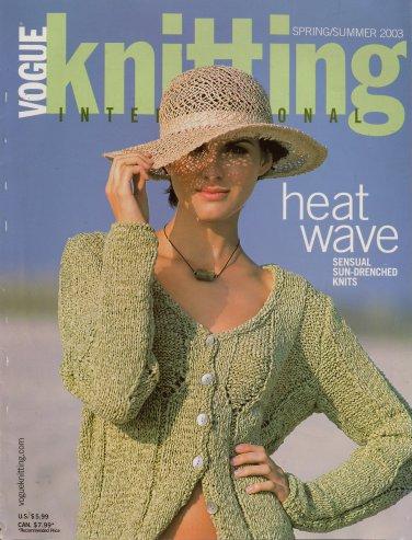 VOGUE KNITTING Spring Summer 2003 Floral Ruffle Crop Tops Long Dress Pants