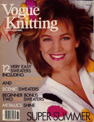 VOGUE KNITTING Spring Summer 1986 Swing Trapeze Floral Sweaters Crop Top