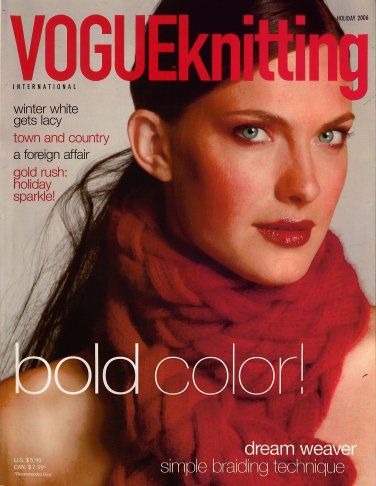 VOGUE KNITTING Holiday 2006 Braided Scarf Christmas Stocking Lace Capelet