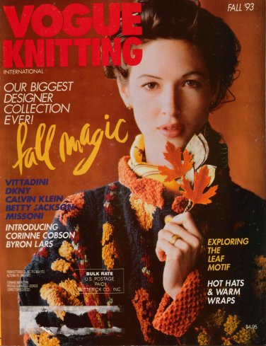 Vogue Knitting Fall 1993 Russian Coat Jacket Hats Aran Dress