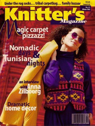 Knitters 41 Winter 1995 Ethnic Rug Motifs Carpetbag Vest Socks Afghan