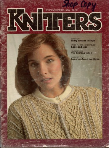 Knitters 2 Spring Summer 1985 Lace Shawl Stockings Baby Bonnet Curtains