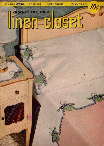 Crochet Patterns Linen Closet Hairpin Lace Edgings Motifs Basket Book 1951 VTNS