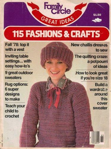 Family Circle Fashions Crafts Knit Crochet Patterns Sew Rugs Repurpose 1978 VTNS