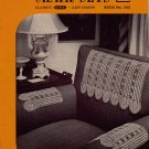 Vtg Crochet Patterns Chair Sets Lacy Motif Heart Rose Filet Pineapple 1948