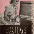 Vintage Edgings Crochet Knit Tatting 89 Patterns Irish Filet Star Book 7 1940