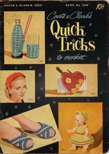 Quick Tricks Crochet Tatting Patterns Gifts Purse Doll Cat Slippers Vintage 1956