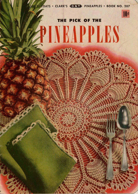 Crochet Patterns Pineapple Motifs Doily Edgings Apron