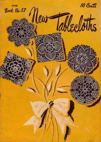 Star Book 57 New Tablecloths Crochet Patterns Motifs Filet Rose Flower 1948
