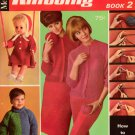 McCalls Knitting Patterns Easy Beginner Sweaters Doll Baby Dog Family Home 1966
