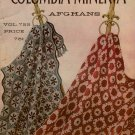 Afghans by Columbia Minerva Knitting Crochet Patterns Poodle Chevron Vintage 1940