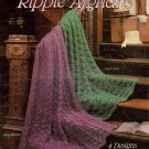 Quick Knit Ripple Afghans Leisure Arts 2014 Knitting Patterns Pamphlet 1990
