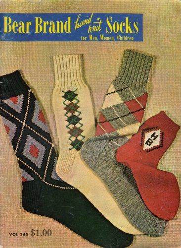 Hand Knit Socks Vintage Patterns Knee Argyle Cable Family Irish Fisherman 1950