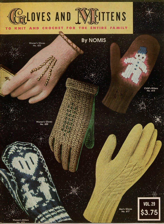Bear Brand 29 Gloves Mittens Family Knitting Crochet Patterns Norwegian 1953