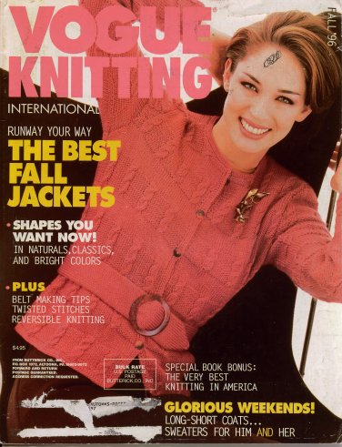 Vogue Knitting Fall 1996 Jacket Coat Long Short Sweater Cables