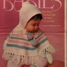 Columbia Minerva 2523 Babies Tiny Togs Tots Knit Crochet Patterns Poncho 1974
