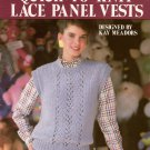 Leisure Arts 476 Quick to Knit Lace Panel Vests Knitting Patterns Easy 1986