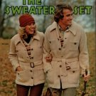 Columbia Minerva 2561 Sweater Set Jacket Cardigan Tennis Knitting Patterns 1973