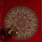 Coats Clark 267 Fanciworks Crochet Knit Patterns Doily Runner Centerpiece 1978
