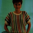 Leisure Arts 1318 Knitting Patterns Nomotta Saskia Fashion Pullover Vest 1986