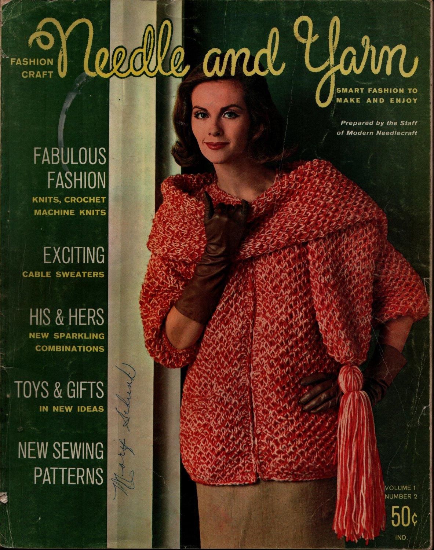 Needle Yarn #2 Fall Winter 1963 Knitting Crochet Patterns Cable Sweater Gifts