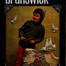 Brunswick Wonderland 656 Knitting Pattern Children 4-14 Hoodie Sweater Vest 1968