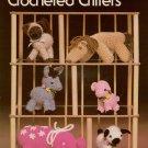 Leisure Arts 109 Crocheted Critters Pattern Lamb Kitten Donkey Elephant Pig 1977