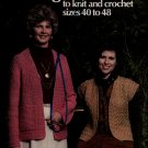 Leisure Arts 142 Full Figure Fashion Sizes 40-48 Knitting Crochet Patterns 1979