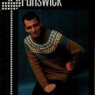 Brunswick Bravo 669 Knitting Patterns Men Sweater Cardigan Vest Fisherman 1970