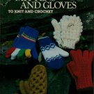 Leisure Arts 110 Mittens Gloves Knitting Crochet Patterns 2 4 Needle 1977