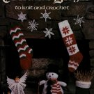 Leisure Arts 129 Christmas Designs Knit Crochet Patterns Ornament Stocking 1978