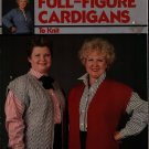 Leisure Arts 465 Full Figure Cardigans Sizes 42-50 Knitting Patterns Vest 1986