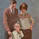 Bernat Handicrafter 97 Raglans Women Men Child Sweaters Knitting Patterns 1961