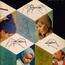Bernat 152 LEARN TO CROCHET Patterns Instructions Hat Cap Mittens Shell 1960