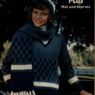 Leisure Arts 47 Sweaters Plus Hat Scarves Tween Adult Knitting Patterns 1974